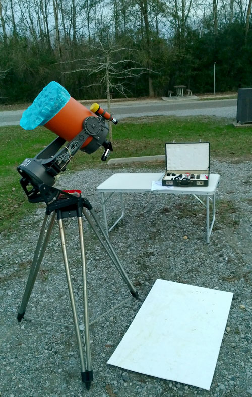 telescope at Bogue Chitto State Park campground